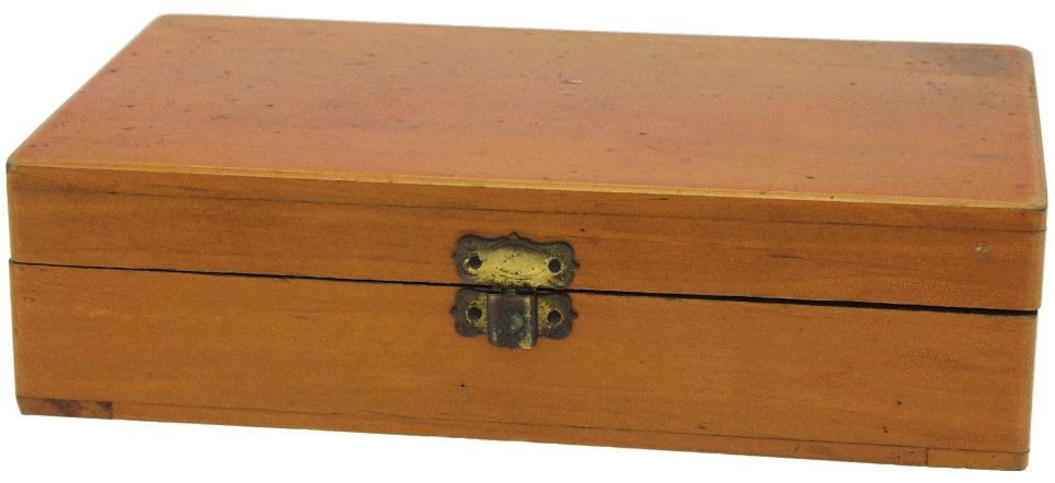 Inconnue - Visionneuse stéréo 8 x 17 pliante en bois fermée