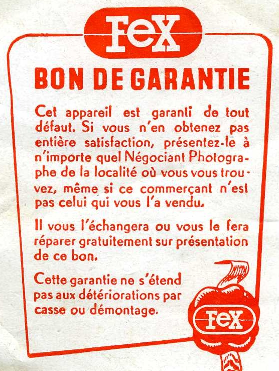 Indo-Fex - Superfex version 10-13 bon de garantie