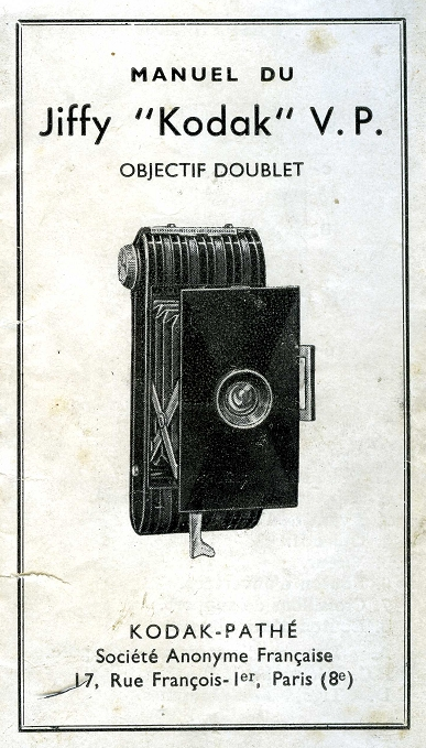 Kodak - Jiffy V.P. [Vest Pocket] manuel