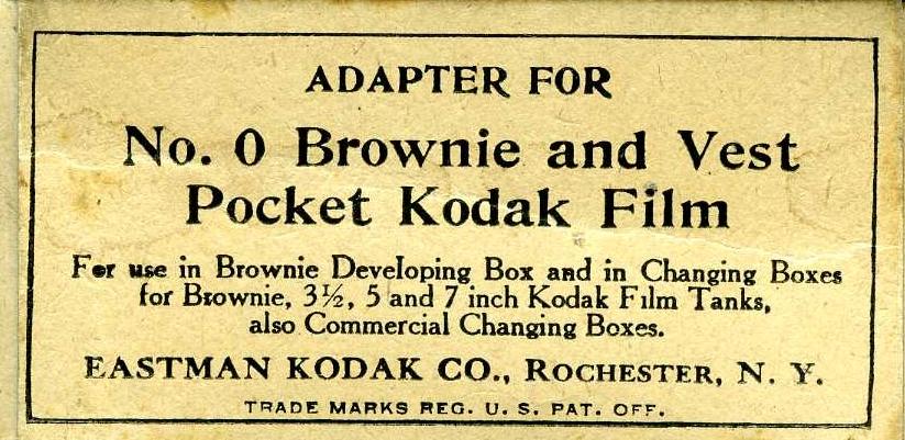 Kodak - N° 2 Brownie developing box adapter