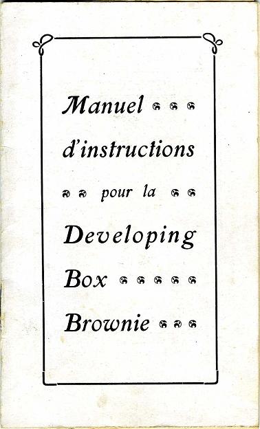 Kodak - N° 2 Brownie developing box notice