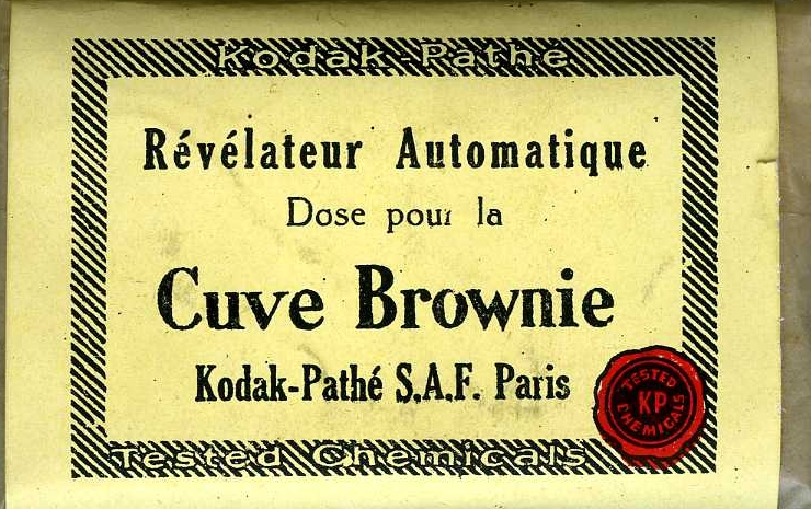 Kodak - N° 2 Brownie developing box revelateur automatique