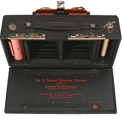 Kodak - N° 2 Brownie stéréo modèle A ouvert