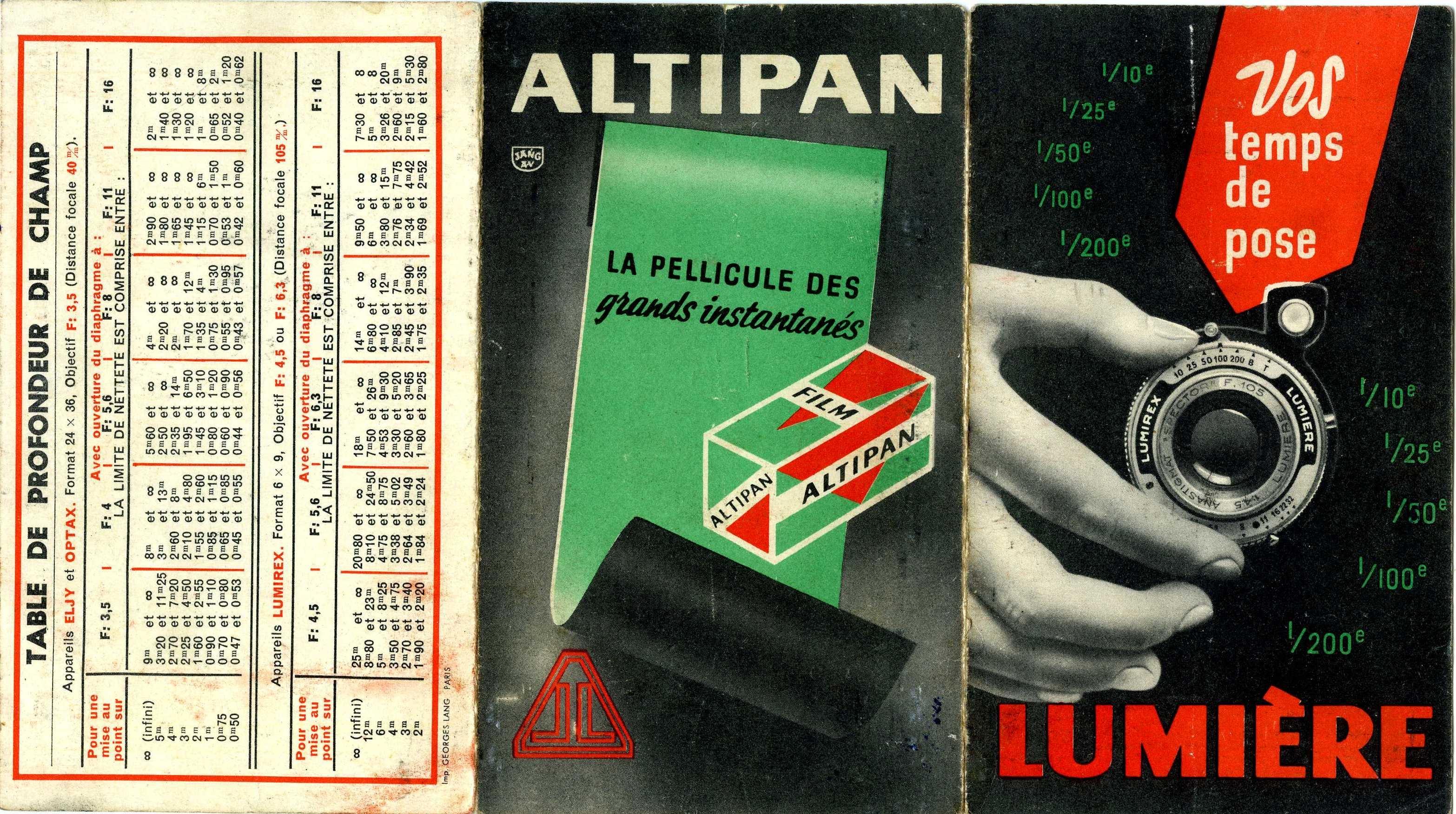 Lumière - Table de temps de pose Altipan
