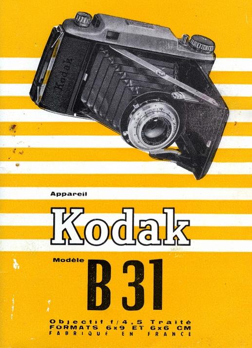 Kodak Pathé - Kodak 4,5 modèle B31  notice