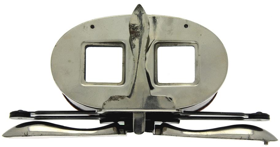 Le Bon Marché - Stéréoscope pliant en métal plié