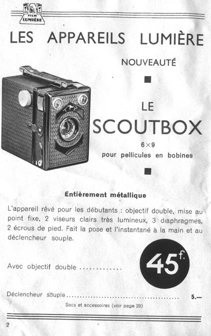 Lumière - Scoutbox notice