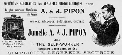 Pipon Alexandre & Jules - The Self Worker 9 x 12 publicité